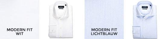overhemden 60/40 lange mouw - katoen - modern fit