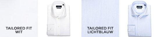 overhemden 60/40 lange mouw - katoen - tailored fit