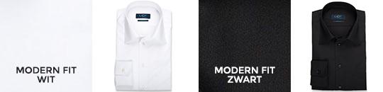 overhemden 55/45 lange mouw - modern fit