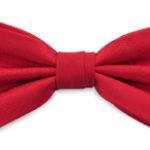 Strik polyester satijn rood